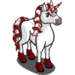 Candy Cane Unicorn-icon