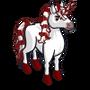 Candy Cane Unicorn-icon