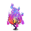 Flaming Fire Tree-icon