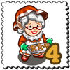 Granny Cookie Gnomette Stamp-icon