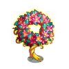 Lighted Wreath Tree-icon