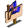 Australian Flag (crop) Mastery Sign-icon