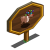 Ornament Reindeer Mastery Sign-icon