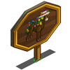 Blooming Horse Mastery Sign-icon