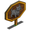Grey Brindle Cairn Dog Mastery Sign-icon