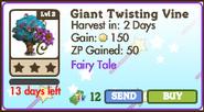 Giant Twisting Vine Tree Market Info (July 2012)