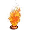 Skull Flame-icon