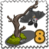 Baby Flying Fox Stamp-icon