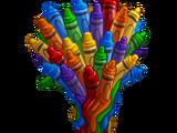 Rainbow Crayon Tree