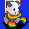Rainbow Panda-icon