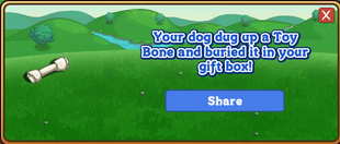 Toy Bone Dogtreat Reward