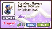 Stardust Gnome Market Info (August 2012)