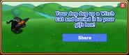 Witch Cat Dogtreat Reward