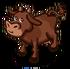 Braune Kuh-icon