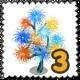 Sparkler Tree Stamp-icon