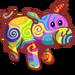 Rainbow Swirls Pig-icon