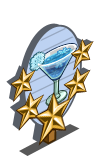 Snowflake Cocktail 5 Star Mastery Sign-icon
