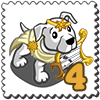 Apollo Pit Dog Stamp-icon