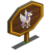 Leaf Pattern Pegacorn Mastery Sign-icon