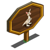 White Kangaroo Mastery Sign-icon