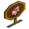 Carnival Pig Mastery Sign-icon
