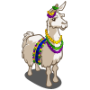 Mardi Gras Llama-icon