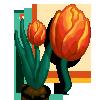 Orange Tulip-icon