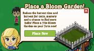 Bloom Garden Placement Notification