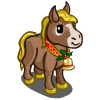 Mini Gold Bell Horse-icon