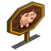 Pink Pot Belly Pig Mastery Sign-icon