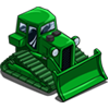 Green Bulldozer-icon