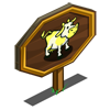 Yellow Patch Cow Mastery Sign-icon