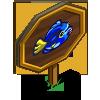 Big Blue Tang Fish Mastery Sign-icon