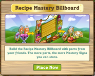 Recipe Billboard Notification