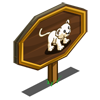 White Lion Cub Mastery Sign-icon