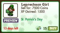 Leprechaun Girl Market-info