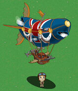Dukes Airship Deflated