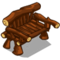 Deco bench log icon