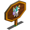 Raindrop Pegacorn Mastery Sign-icon