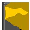 Yellow triangle flag-icon