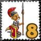 Kangaroo Pompeii Guard Stamp-icon