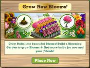 Bloom Garden Pop Up Notification