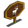 White Buck Mastery Sign-icon