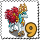Red Winged Unicorn Stamp-icon