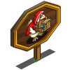 Big Red Riding Chicken Mastery Sign-icon