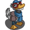 Hipster Duck-icon