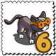 Pumpkin Glare Cat Stamp-icon