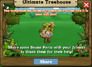 Ultimate Treehouse Stage 4 Completed Message
