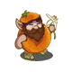 Orange Gnome-icon