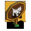 White Sabertooth Tiger Mastery Sign-icon